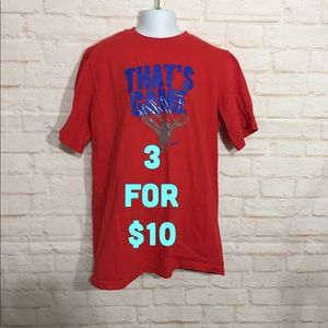 Nike red and blue graphic T-shirt boys XL
